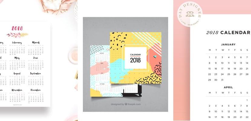 Calendarios imprimibles a año vista