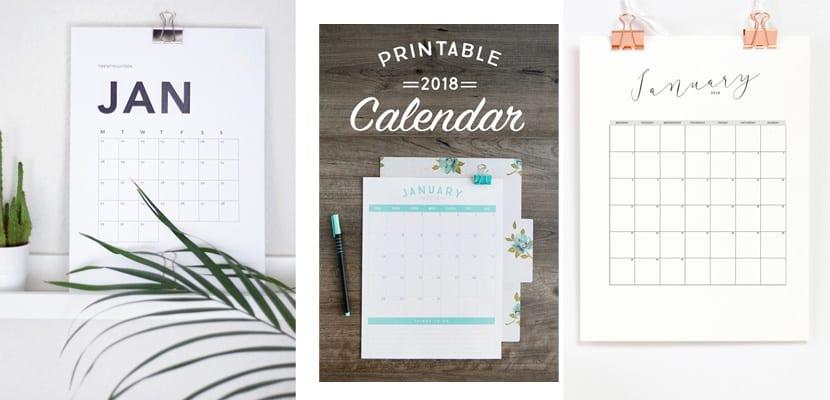 Calendarios imprimibles mensuales