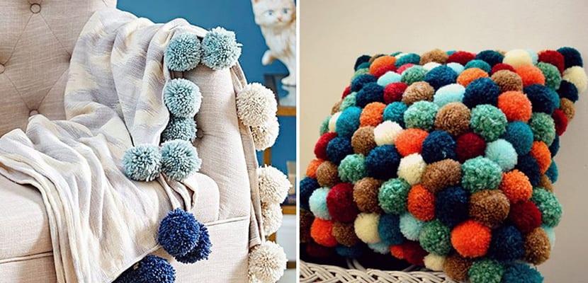 Textiles con pompones