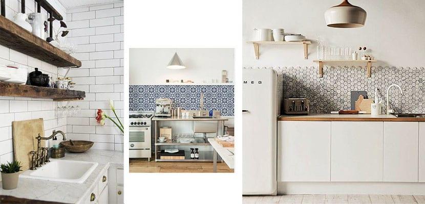 Frentes de cocina est tica y funcionalidad - Limpiar azulejos cocina para queden brillantes ...