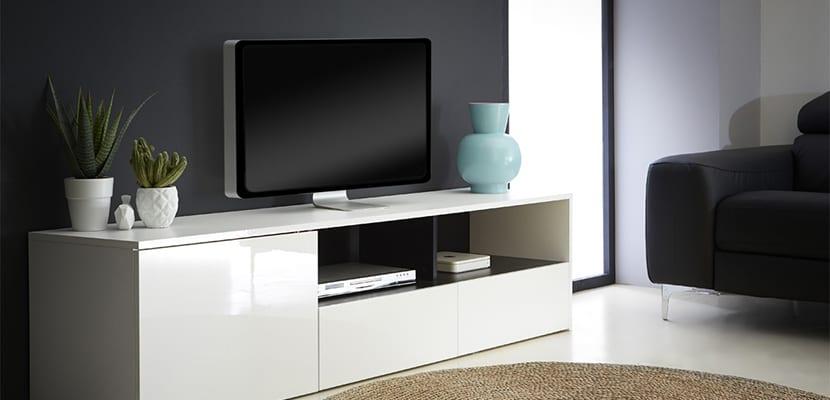 Muebles de televisión blanco