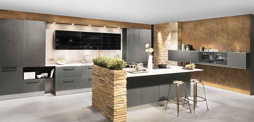 Cocinas blancas y grises para el hogar for Cocinas profesionales para el hogar