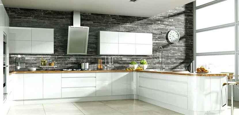 Cocinas blancas y grises para el hogar for Color credence cocina blanca