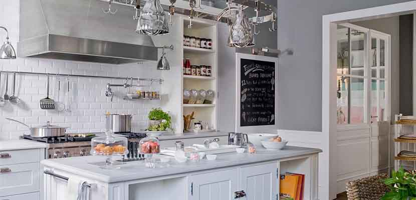 Cocinas blancas y grises para el hogar for Cocinas blancas y grises