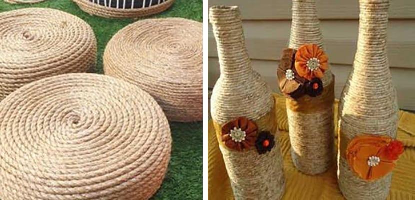 Cuerdas para decorar el jardín