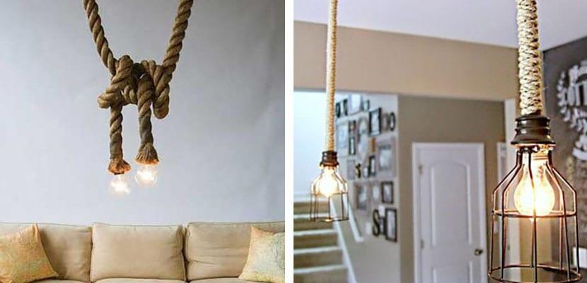 Lámparas con cuerdas