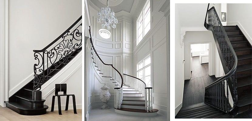 Escaleras de interior clásicas