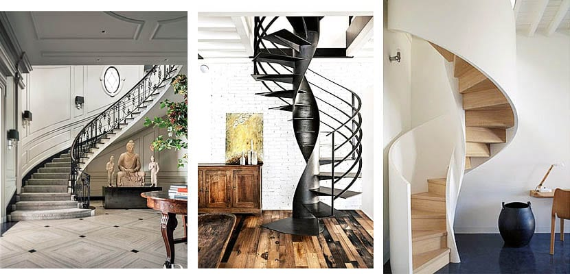Escaleras de interior curvas
