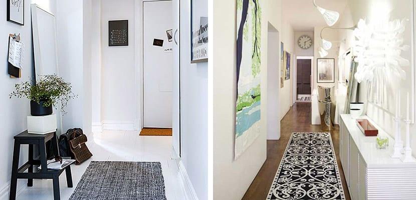ideas para decorar pasillos estrechos