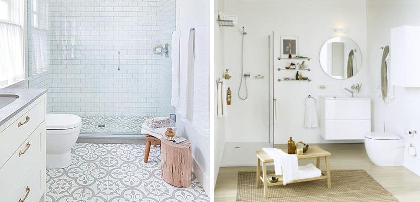 Baños de color blanco