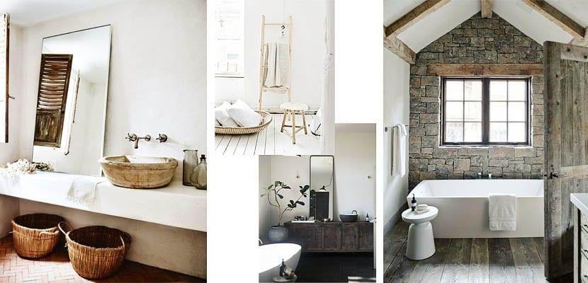 casas de campo: baños