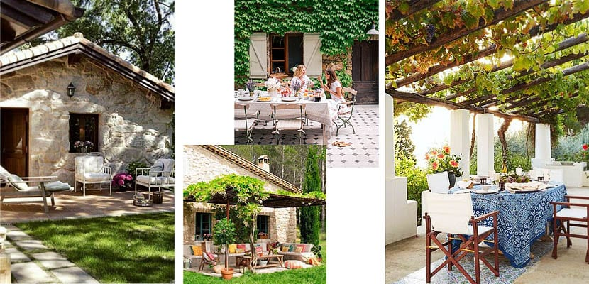 Casas de campo: espacios exteriores