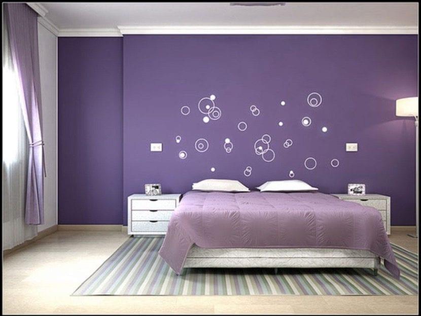 Qué Debes Saber Para Decorar Las Paredes Del Dormitorio En Color Morado Decoora