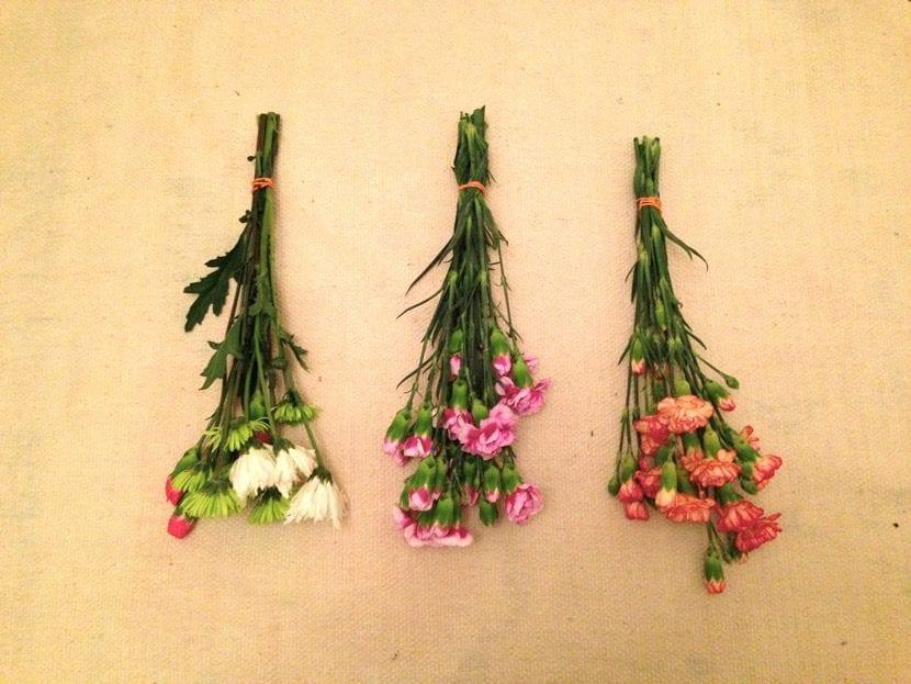 decorar con flores secas