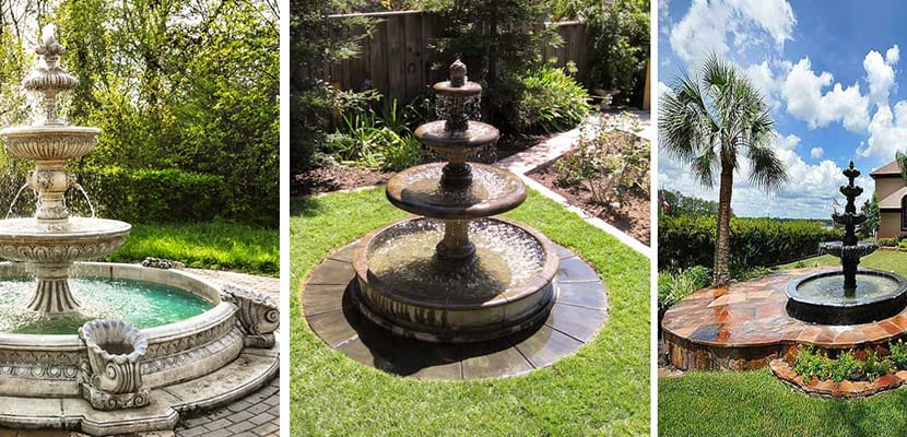 Fuentes de jard n elemento decorativo - Fuentes para jardin de piedra ...