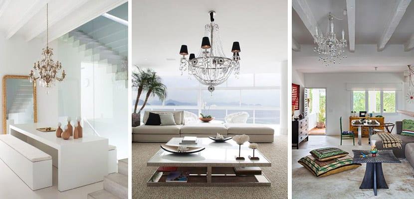 Lámparas en ambientes modernos