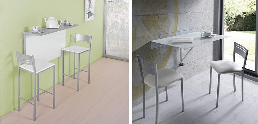 Mesas abatibles de pared para el hogar