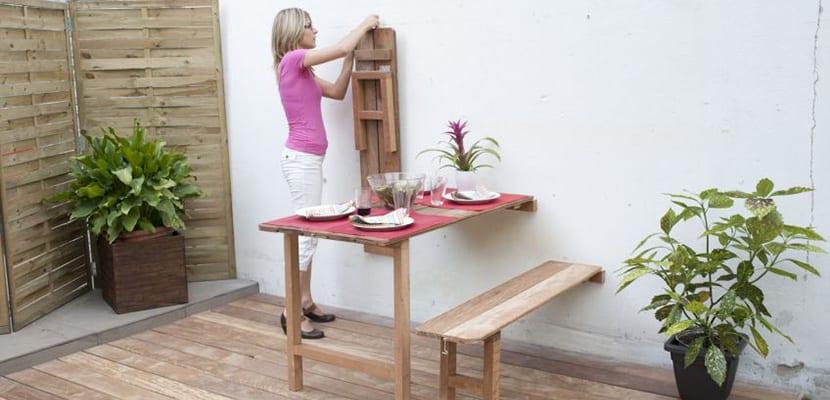 Mesa abatible para el jardín