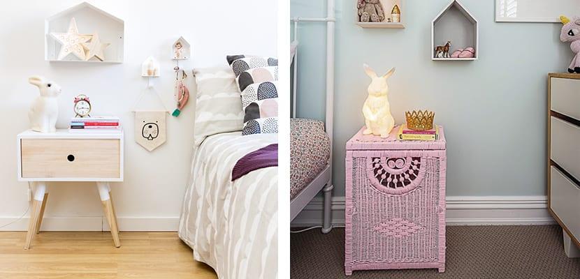 Decorar el dormitorio con mesillas de noche peque as for Mesillas noche redondas