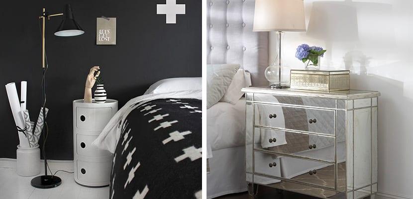 Decorar el dormitorio con mesillas de noche peque as - Mesillas de noche diseno ...