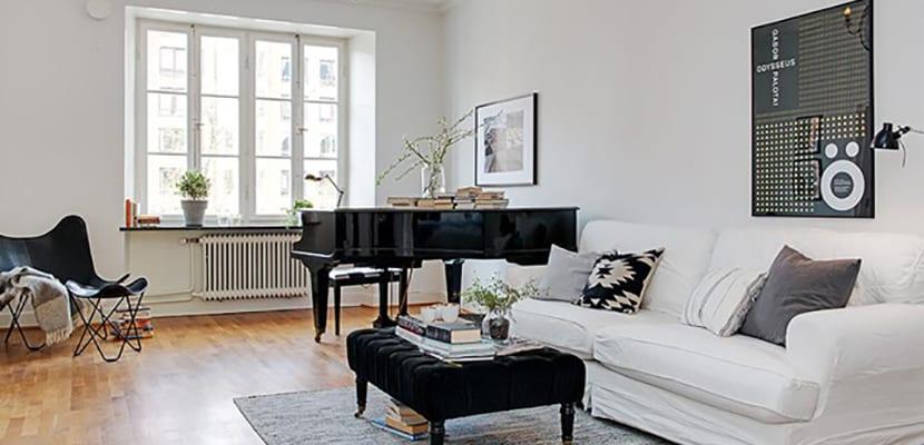 Piano en el salón