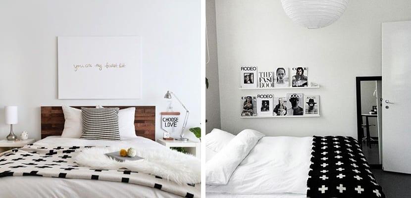 Mantas en blanco y negro