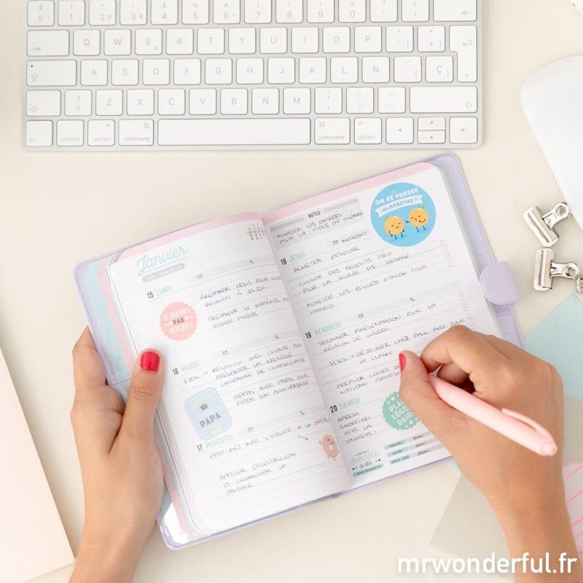 escribir en la agenda