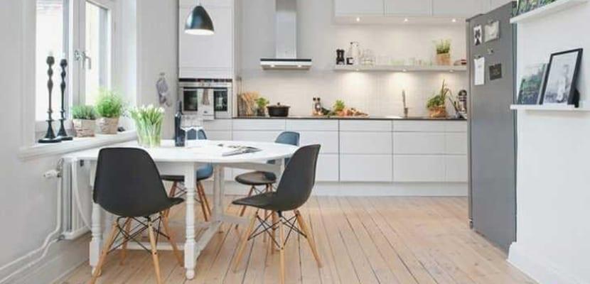 Cocinas nórdicas en blanco