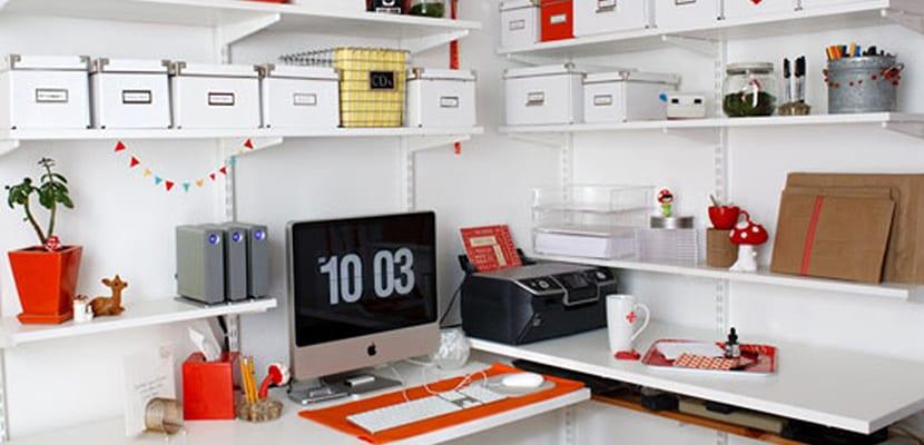 Espacio de almacenaje en despacho