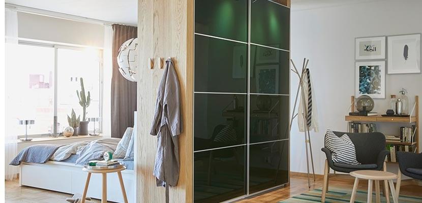 Dormitorio Ikea armario separador