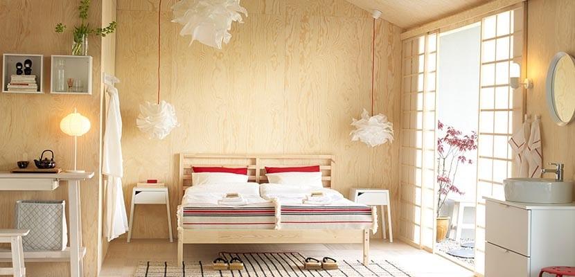 Dormitorio Ikea japonés