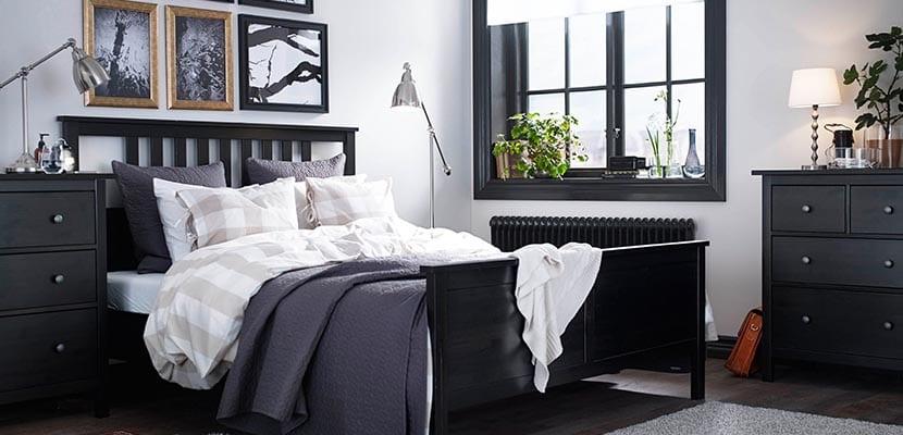 Dormitorio Ikea muebles negros