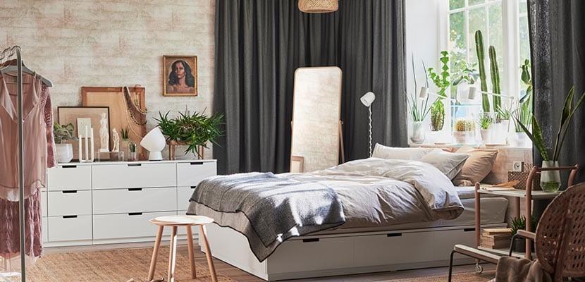 Dormitorio Ikea de estilo natural