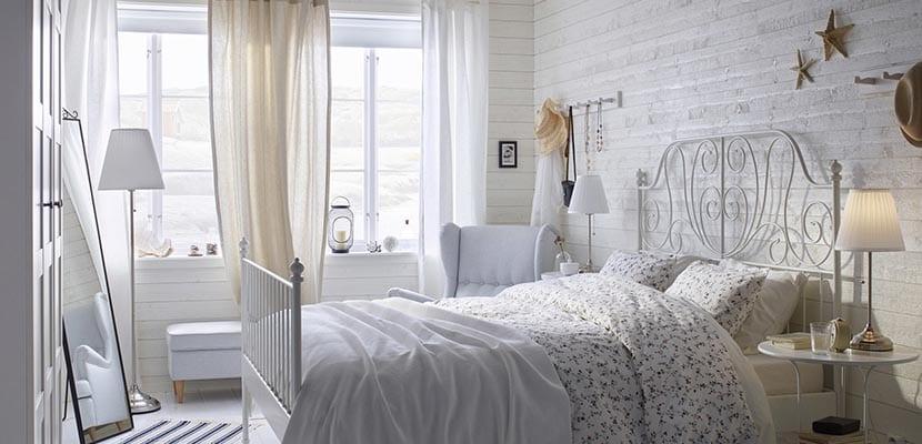 Dormitorio Ikea romántico