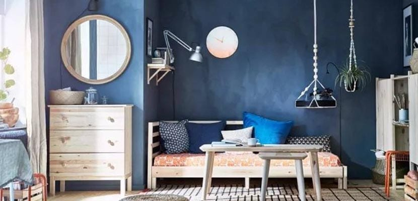 Dormitorio Ikea azul