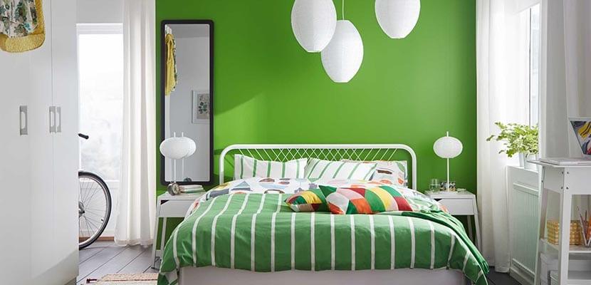 Dormitorio Ikea verde