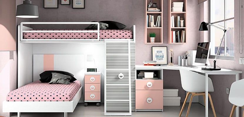 Inspiraci n en habitaciones juveniles con encanto for Habitaciones juveniles chica