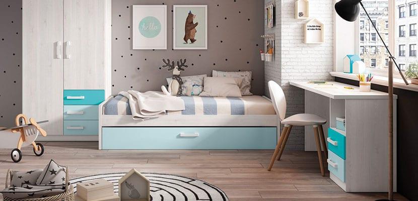 Inspiracion En Habitaciones Juveniles Con Encanto - Decoracion-de-habitacion-juvenil