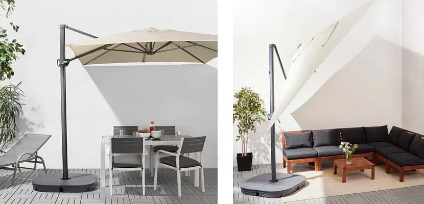 Sombrillas de Ikea: Orientación