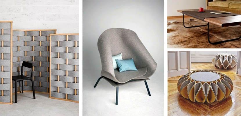 Muebles de fieltro