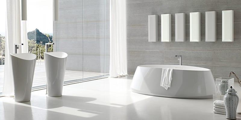 Baños modernos en color blanco