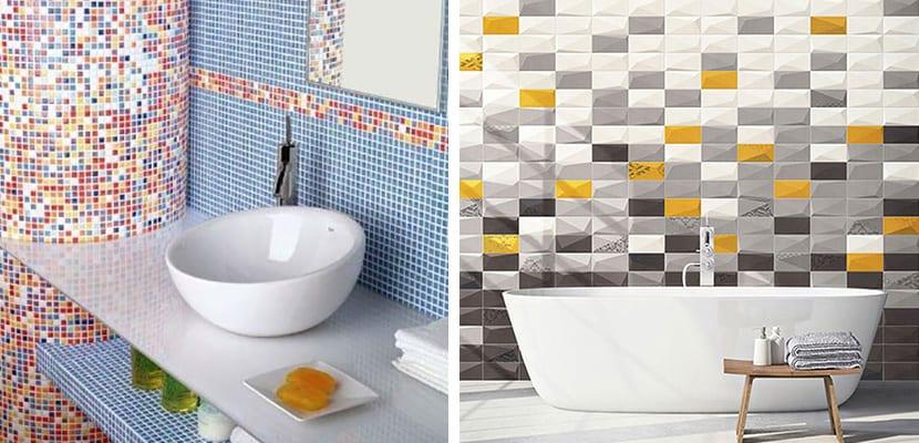 Azulejos de colores para baños pequeños