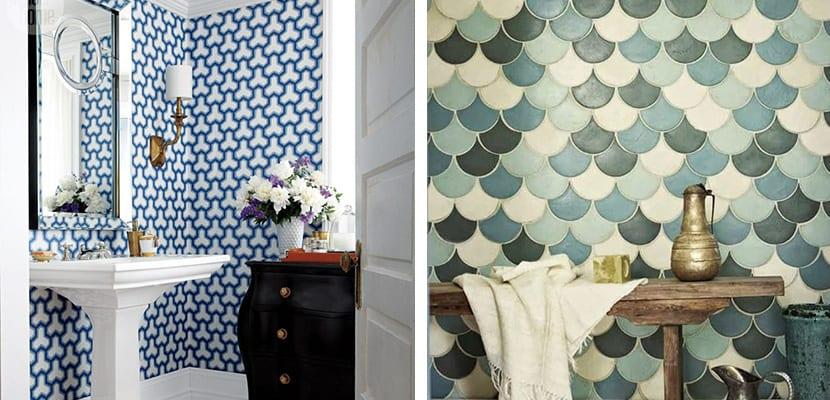 Azulejos originales en baños pequeños