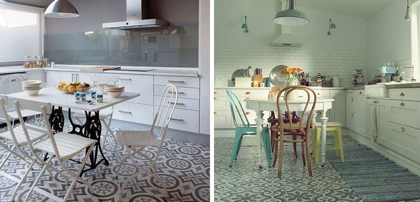 Azulejos hidráulicos para la cocina