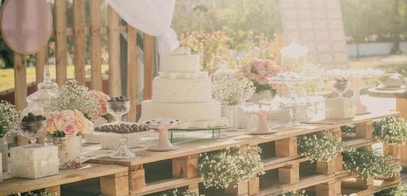 Mesa dulce con palets