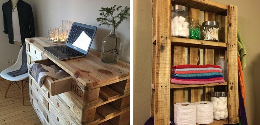Mueble de almacenaje con palets