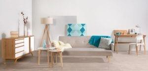 Muebles blanco y madera