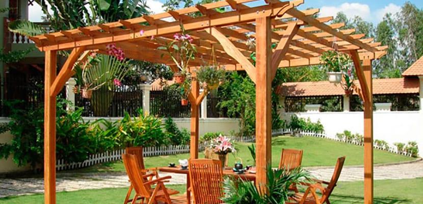 Pérgolas de madera para el jardín