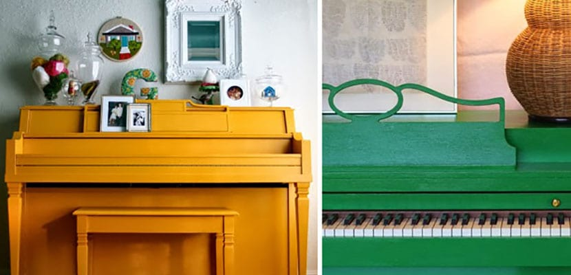 Pianos de colores