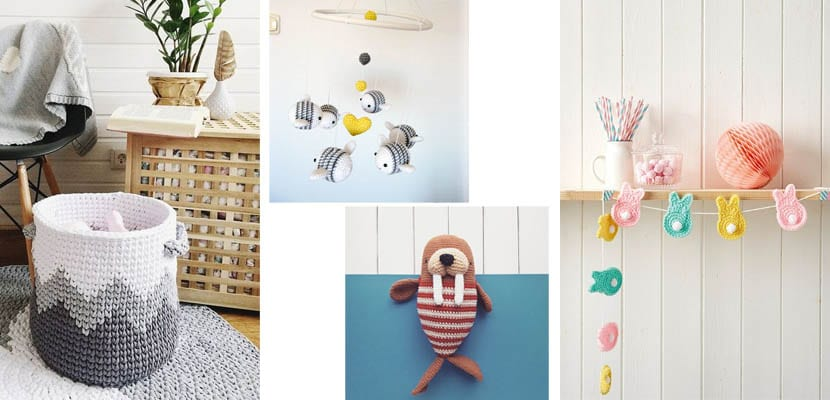 Objetos de crochet para el dormitorio infantil